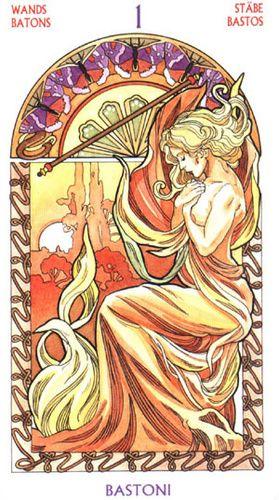 Ace of Wands, Tarot De Art Nouveau