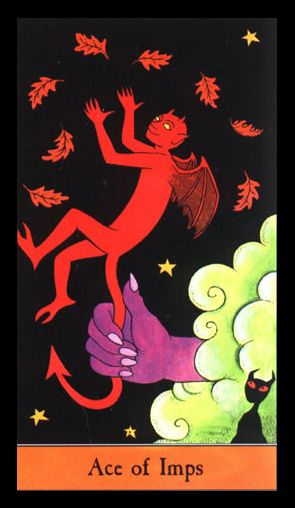 Ace of Imps, Halloween Tarot