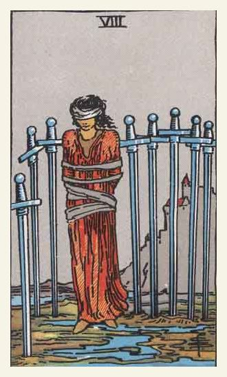 8 of Swords, Rider-Waite Tarot